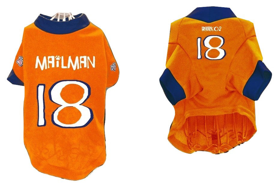 Pet Athletic Wear (PAW) Pet Jersey (#18-Mailman, Barkos)