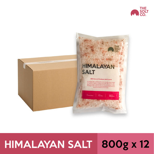 ✦Carton Deal✦ Himalayan Salt (Coarse) 800g x 12 Packs | The Solt Co.