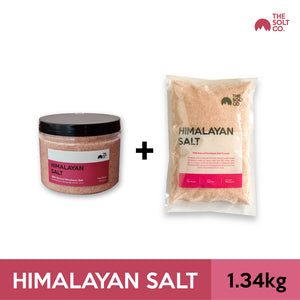 ✦Bundle Deal✦ The Solt Co. Himalayan Salt (Fine) 540g + 800g