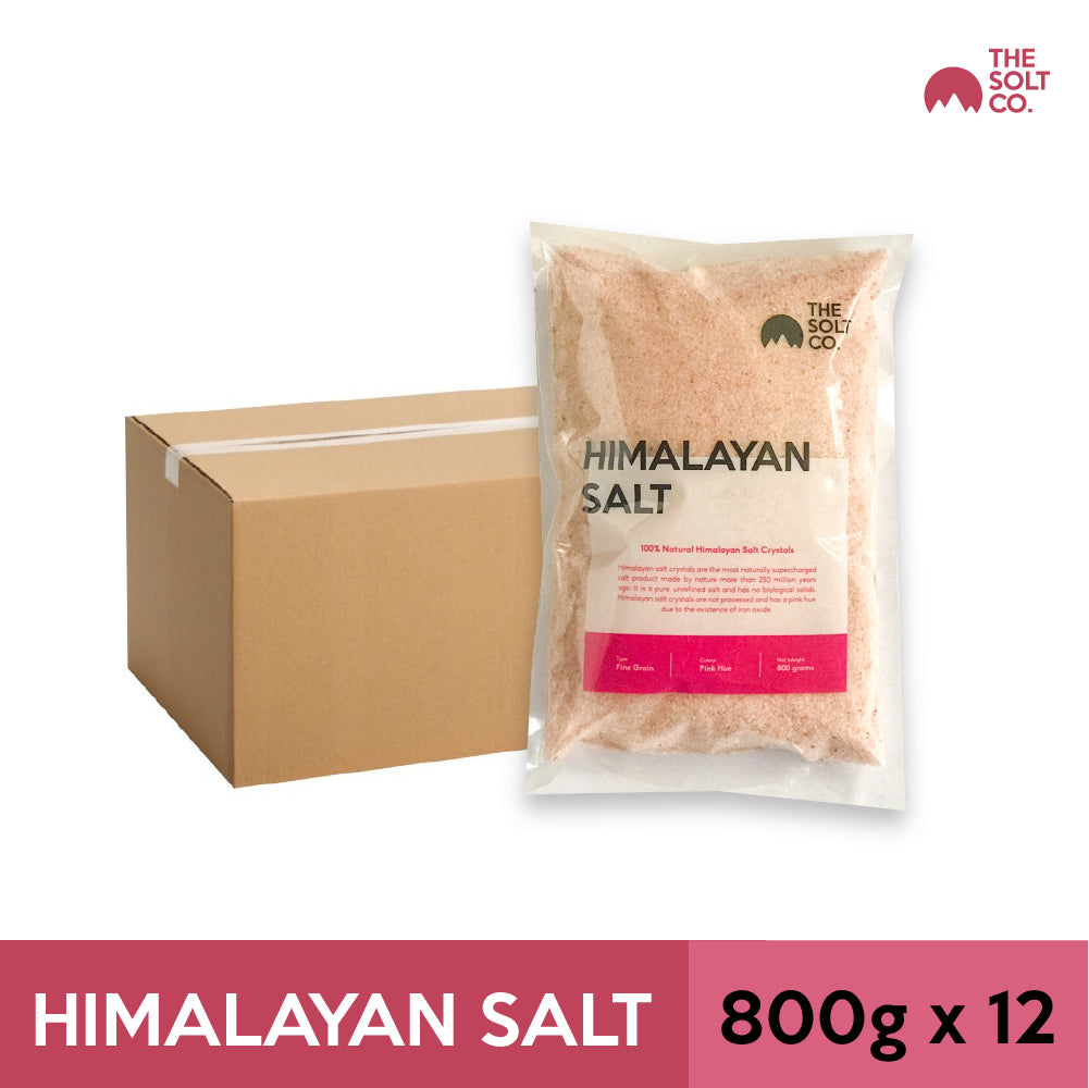 ✦Carton Deal✦ The Solt Co. Himalayan Salt (Fine) 800g x 12 Packs