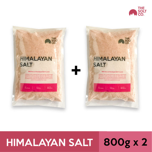 ✦Bundle Deal✦ The Solt Co. Himalayan Salt (Fine) 800g x 2 Packs