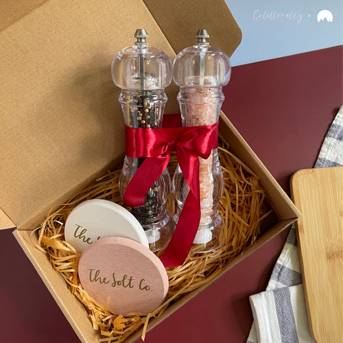 Premium Seasoning Gift Set with Personalised Coasters | Coletterally x The Solt Co.