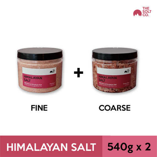 ✦Bundle Deal✦ The Solt Co. Himalayan Salt (Fine) 540g + (Coarse) 540g