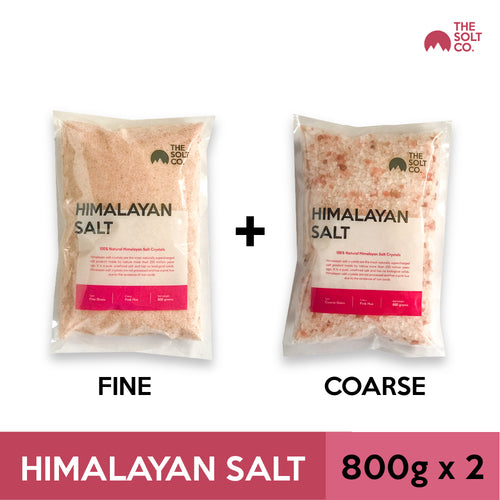 ✦Bundle Deal✦ Himalayan Salt (Fine) 800g + (Coarse) 800g | The Solt Co.