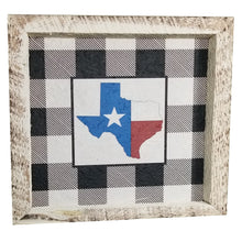 Load image into Gallery viewer, 12 x 12 White/Black/Red/Blue Rough Cut Mulberry Paper Gingham Texas