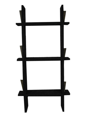 36 x 19 x 6 Black Wood Shelves