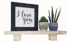 Load image into Gallery viewer, White Rough Cut Solid Wood Mini -  Mantel