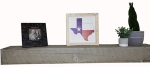 12 x 12 White/Red/Blue Rough Cut Texas State Flag