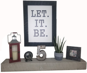 30 x 20 Black/White Rough Cut Framed Let It Be.
