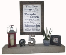 Load image into Gallery viewer, 30 x 20 White/Black Rough Cut Framed The best things in life