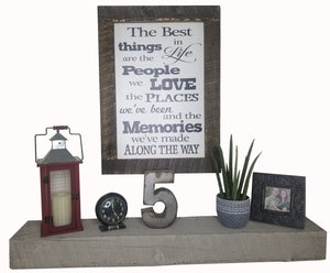 30 x 20 White/Black Rough Cut Framed The best things in life