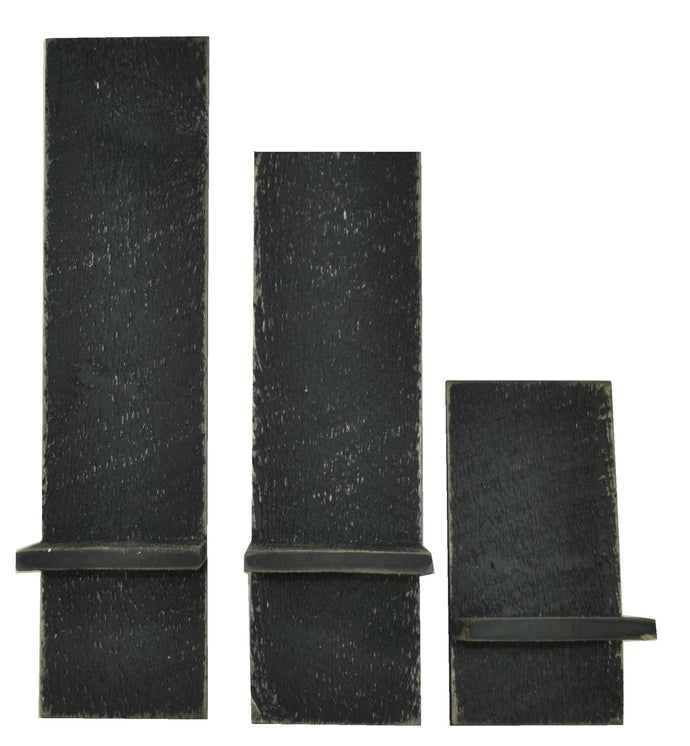 Black Trio Shelves