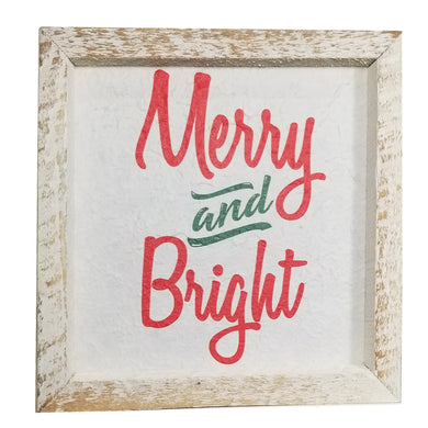 12 x 12 White/Red/Green Rough Cut Merry and Bright