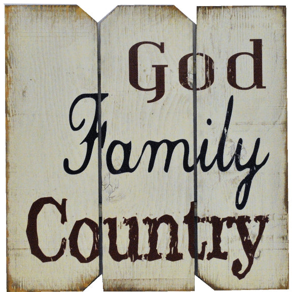 16 x 16 White/Red/Blue God Family Country