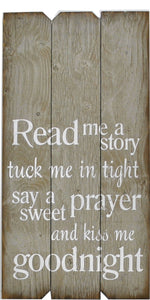 18 x 36 Gray Read me a story (Free shipping with Code: FREE at checkout)