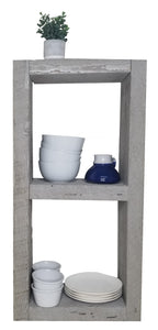 32x16x8 Rough Cut Beach Gray Divided KITCHEN Shelf