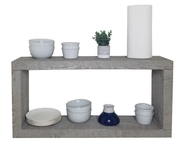 32x16x8 Rough Cut Beach Gray KITCHEN Shelf