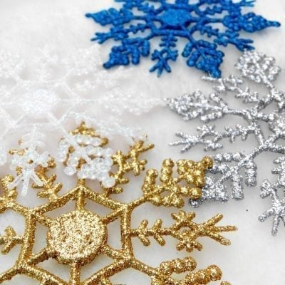 6 Décorations de Sapin de Noël en Flocon de Neige