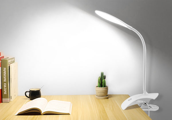 Dimmable USB Touch LED Lamp - Veilleuse de Lecture de Clip de Chevet