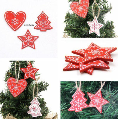 Christmas Wooden Pendants - Christmas Ornaments