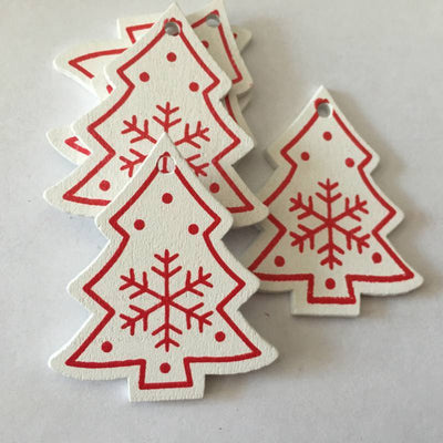 Christmas Wooden Pendants - Christmas Ornaments 5