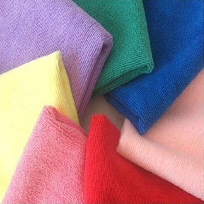 10 Pcs High Quality Microfiber Cleaning Cloths Set