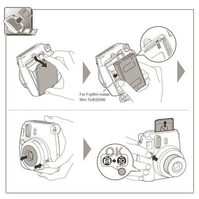 Fujifilm Instax Mini Film - Instant Camera Mini Photo Paper 4