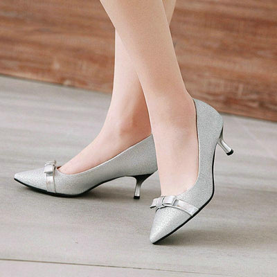 Ladies Stylish Shoes - Pointed Toe Platform Pumps Dress Shoe