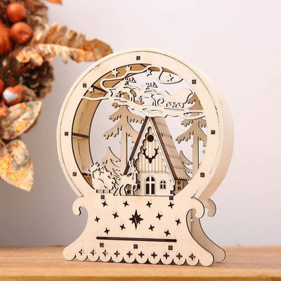 Light Up Cardboard House Christmas Decoration