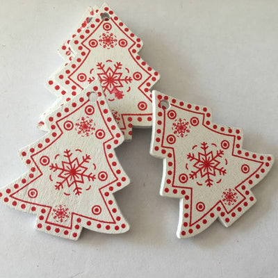 Christmas Wooden Pendants - Christmas Ornaments 4