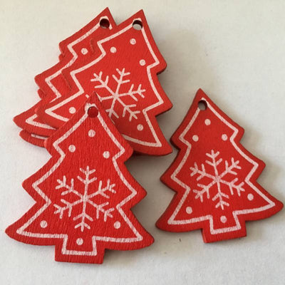 Christmas Wooden Pendants - Christmas Ornaments 2