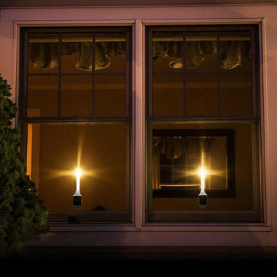 2pcs Solar Power LED Candle Light - Sunproof performance Outdoor Window Home Decor Waterproof Resistant Led Night Light