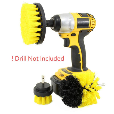Power Scrubber Drill Brush Set for Cleaning | Rotating Drill Brush Scrub Bathroom Cordless Drill Attachment Cleaning Kit cordless shower scrubber | cordless cleaning brush | power drill scrubber | power shower scrubber
