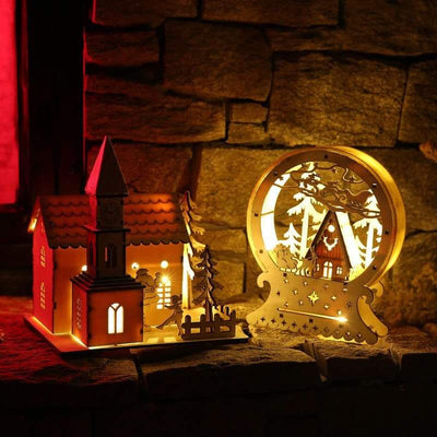 Light Up Cardboard House Christmas Decoration 4