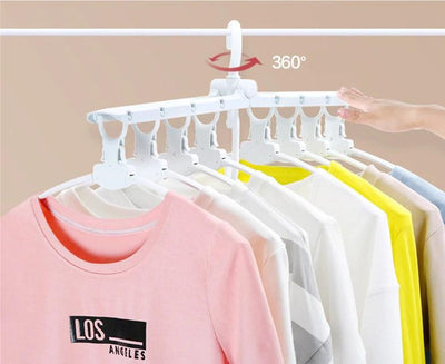 Foldable 360 Degree Multi Layer Magic Clothes Hanger Organizer