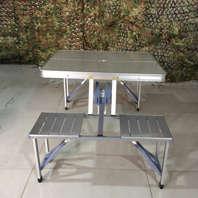 Foldable Outdoor Table - Aluminum Outside Table and Chairs
