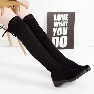 thigh high boots, over the knee boots, thigh boots, suede thigh high boots, high boots, over the knee high boots, best thigh high boots, Black Thigh High Boots - Black Over The Knee Boots