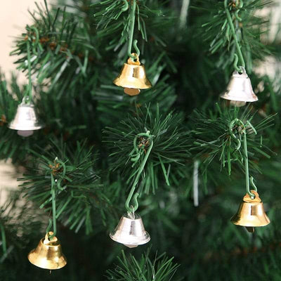 10Pcs Jingle Bell Christmas Ornaments