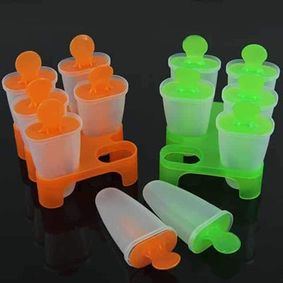 12 Cell Popsicle Molds - Ice Cream Molds Popsicle Maker Set
