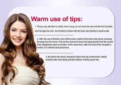 Curling Wand With LCD Display - Hair Styling Curling Iron