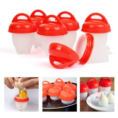 6 Pieces Silicone Egg Cup Cooker - Hard Soft Boiled Eggs Mold Tool