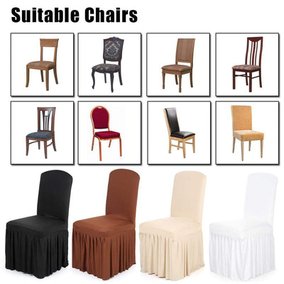 dining chair covers, slipper chair slipcover, plastic chair covers, Armless Chair Slipcover - Protective Chair Seat Covers, Dining Chair Covers - Slipper Chair Slipcover