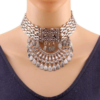 Choker Necklace - Silver Choker Necklace Chokers For Women