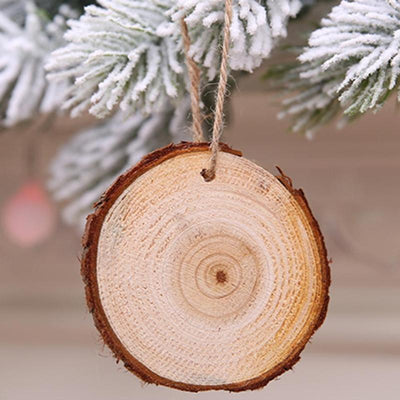 10 PCS Christmas Tree Wood Slice - DIY Christmas Decoration