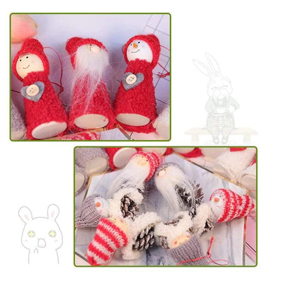 3 Pcs Cute Christmas Snowman Doll Hanging Ornaments