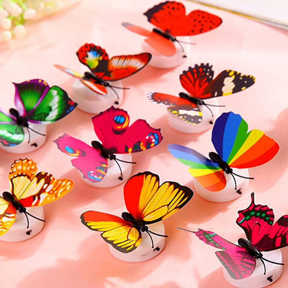 10 Pcs Led 3D Butterfly Wall Lights