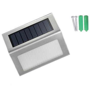 2Pc Rechargeable Solar Garden LED Lights - Solar Step Lights