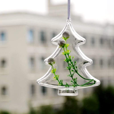 5 PCS Christmas Tree Decorations - Clear Ornament Gift Box