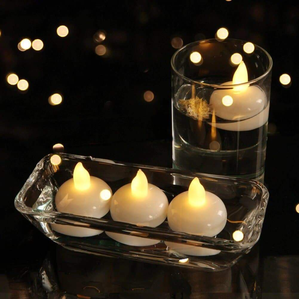 10Pcs Tea Lights Flameless Candles - Floating Candles