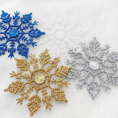 6 Pcs Snowflake Christmas Tree Decorations